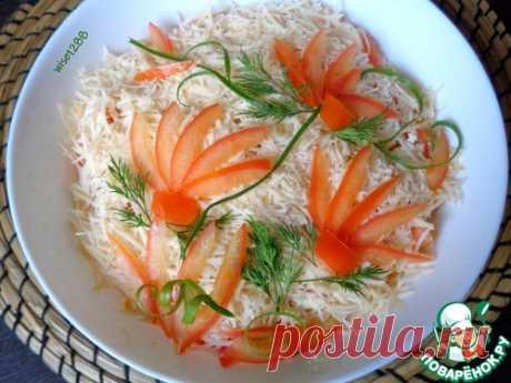 Салат с печенью трески «Командор» – кулинарный рецепт