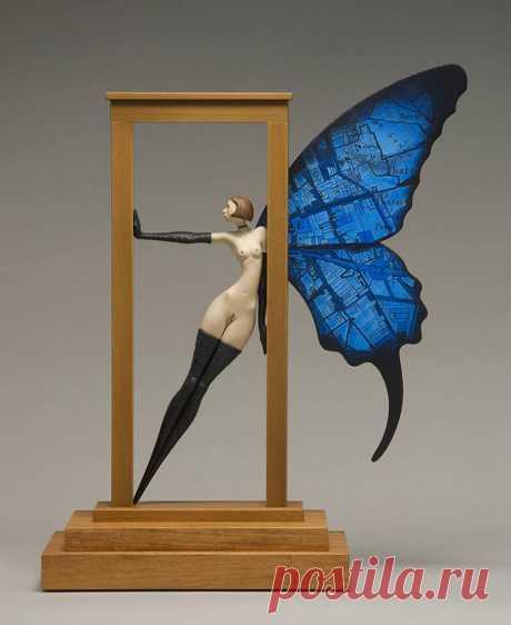 "Sculpture - Surreal wood sculptures by artist: "" John Morris ""."