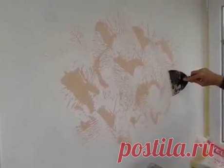 декоративная штукатурка из обычной шпатлевки по мотивам произведений Олега А. и Романа О.
