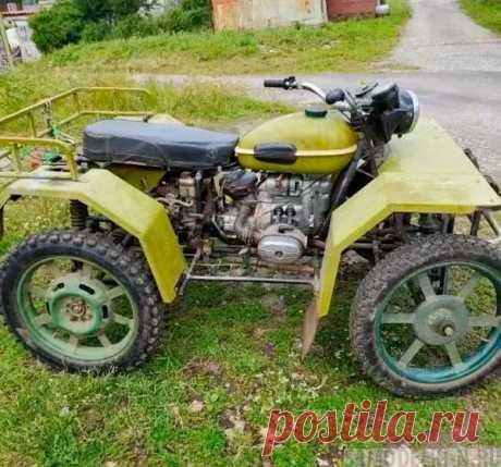 Квадроцикл своими руками из мотоцикла «Урал»   Самоделки своими руками