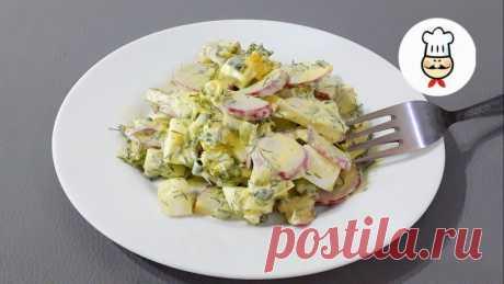 Весенний салат с редисом и яйцом — Кулинарная книга - рецепты с фото