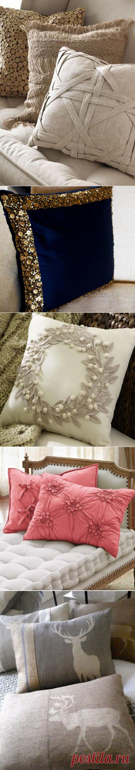 21 восхитительная идея создания декоративных подушек. Это под силу даже тем, кто не умеет шить. — HandMade