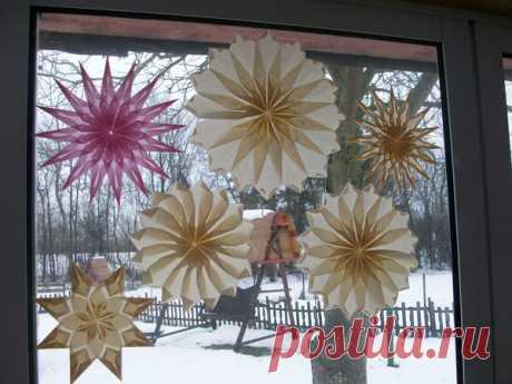 5 Простых Способов Быстро Украсить Окна на Новый Год | Поделки и Подарки Своими Руками | Яндекс Дзен