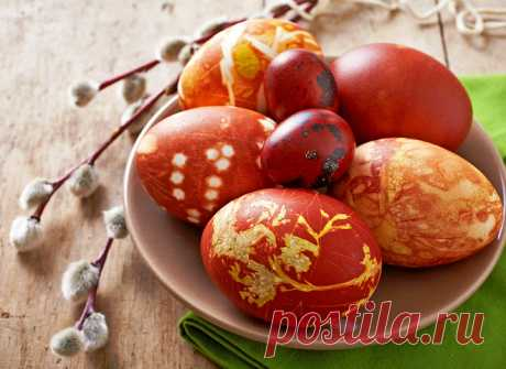 How to paint eggs in an onions peel - tochka.net