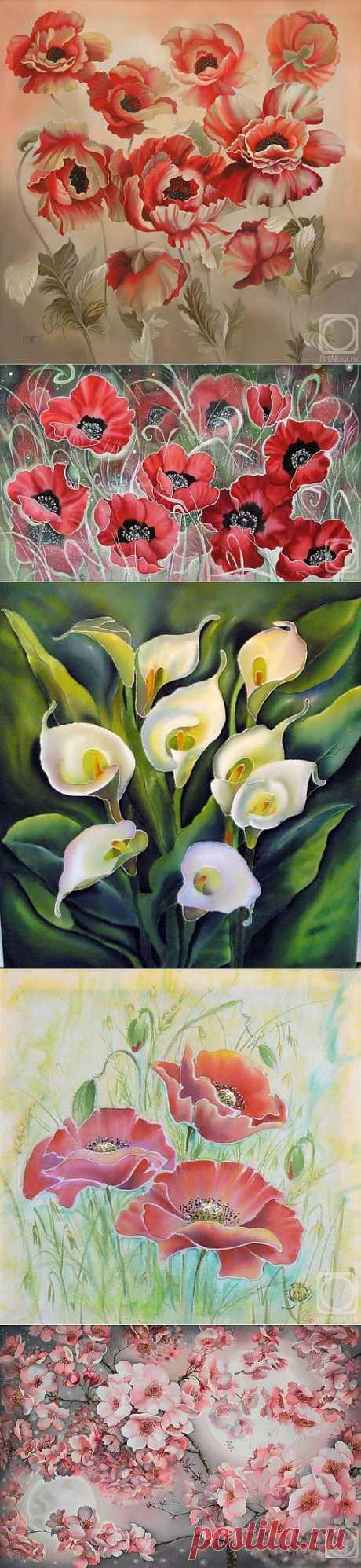 Батик. Цветы (54 работ) » Картины, художники, фотографы на Nevsepic