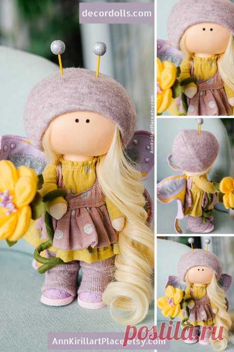 Butterfly Custom Made Doll Tilda Cloth Doll Interior Decor | Etsy