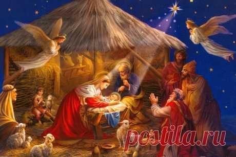 С Рождеством Христовым, православные!   Христос раждается - славите! Христос с Небес - срящите! Христос на земли - возноситеся! Пойте Господеви, вся земля, и веселием воспойте, людие, яко прославися   Рождество́ Твое́, Христе́ Бо́же наш, возсия́ ми́рови свет ра́зума, в нем бо звезда́м служа́щии, звездо́ю уча́хуся, Тебе кла́нятися Со́лнцу Пра́вды, и Тебе́ ве́дети с высоты́ восто́ка: Го́споди, сла́ва Тебе́.  #Православие #Рождество_Христово #Христос_родился