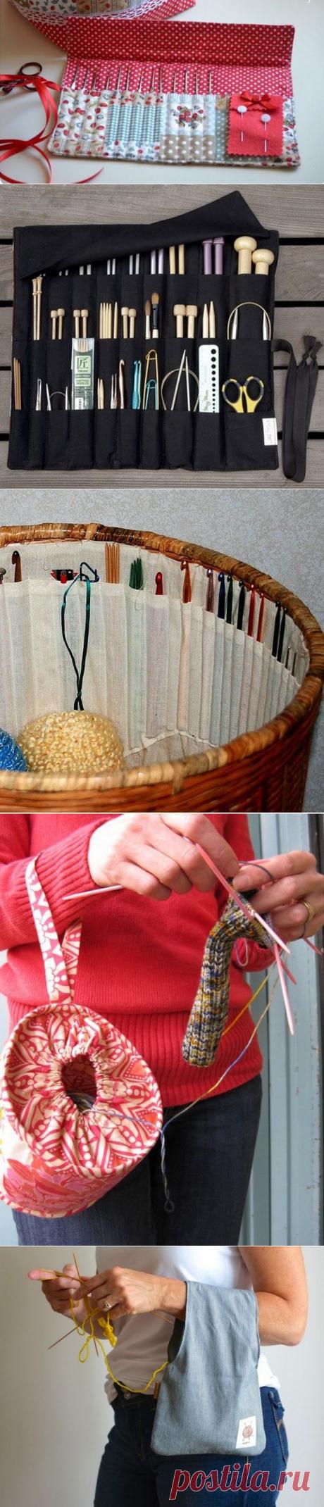 Маленькие хитрости для хранения крючков, спиц, иголок