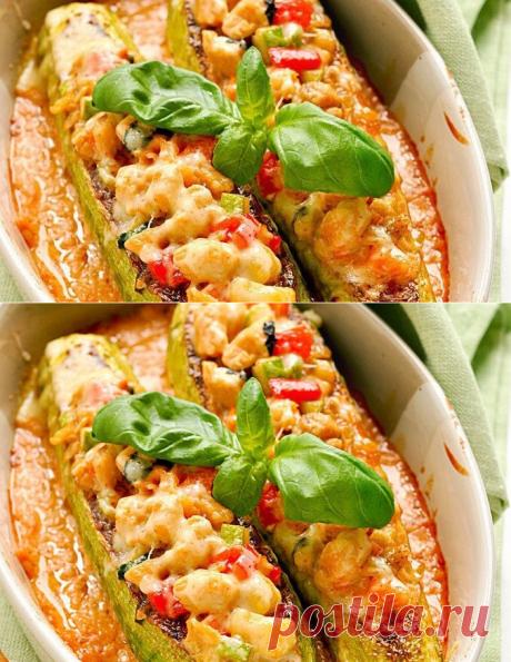 Диетические кабачки фаршированные курицей и овощами - Советы для тебя