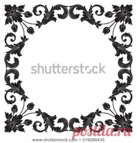 Стоковая векторная графика «Vintage Baroque Ornament Retro Pattern Antique» (без лицензионных платежей), 578280430: Shutterstock