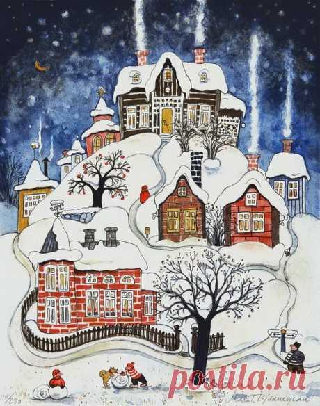 Я знаю, за что поклониться зиме.... Художник Marit Bjornegran