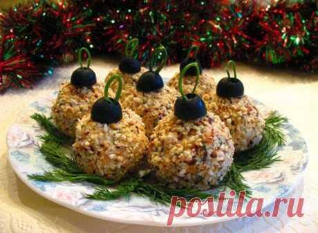 Закуска к новогоднему столу «Ёлочные шарики»