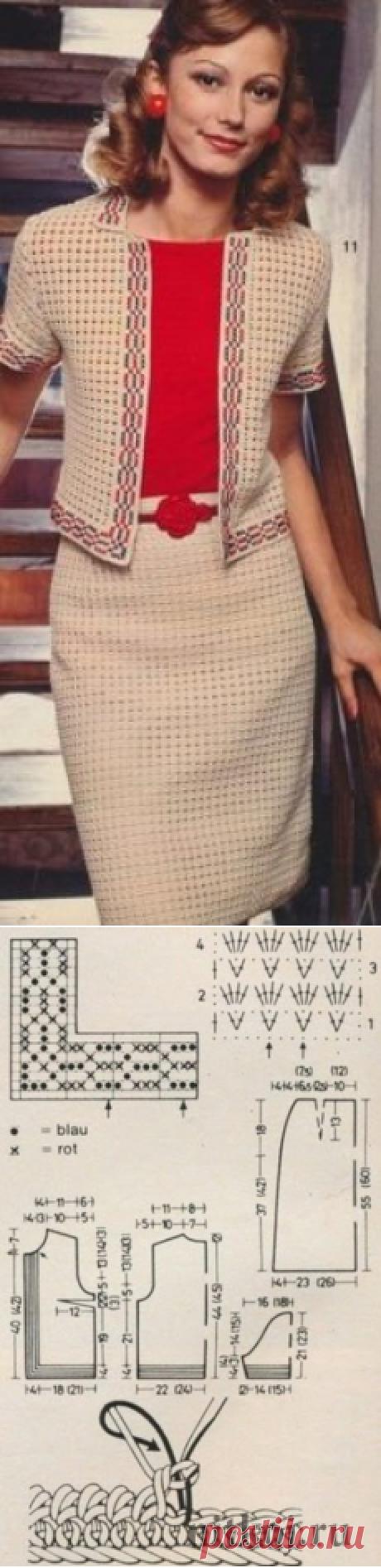 Схема вязания костюма крючком » Ниткой - вязаные вещи для вашего дома, вязание крючком, вязание спицами, схемы вязания