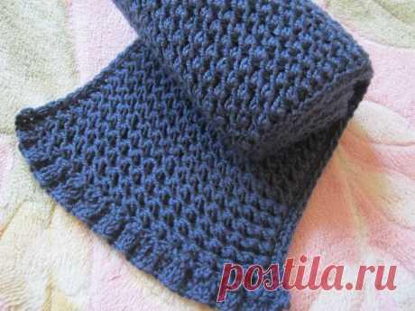 Как связать шарф с «фишечкой» спицами универсальным узором для всей семьи