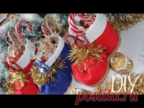 Как сделать Новогодний сапожок / DIY Christmas Boots - YouTube #новогоднийсапогсвоимируками #новогоднийсапожок
