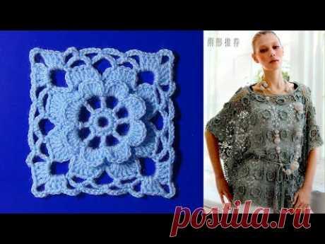 Блуза из цветочных мотивов. МК.