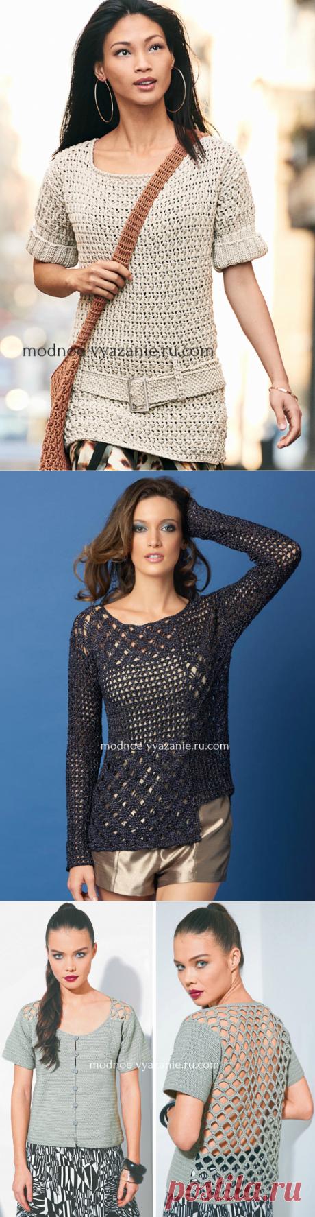 Стильные кофточки крючком для женщин - Crochet - Modnoe Vyazanie