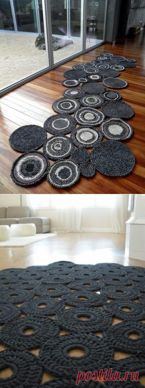Оригинальные коврики крючком. Схемы. / knittingideas.ru