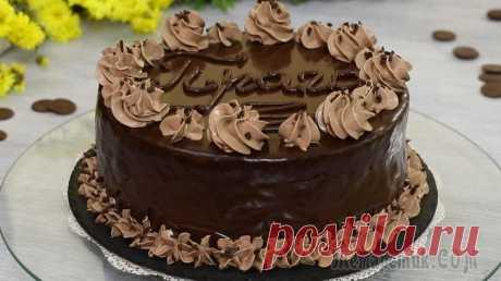 """Торт """"Прага"""" (""""Пражский"""" Торт) Почти по ГОСТу Предлагаю рецепт легендарного, восхитительно нежного, красивого и очень вкусного шоколадного десерта, под названием - торт """"Прага"""" или """"Пражский"""" торт. В период острого дефицита продуктов как раз за э..."""