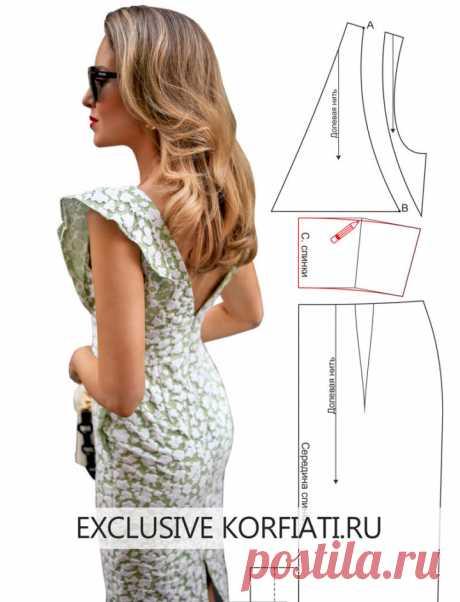 Выкройка платья с крылышками от Анастасии Корфиати