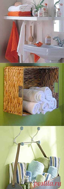 Дизайн ванной комнаты: удобные полки для полотенца - Учимся Делать Все Сами