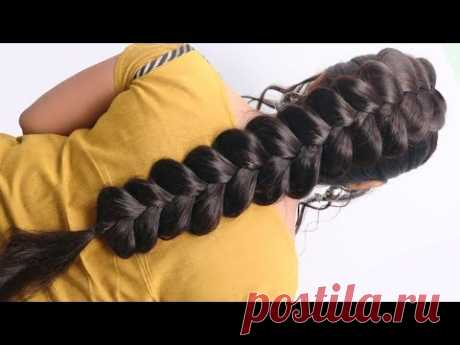 Most Beautiful Dutch Braid Hairstyle with Trick || Hairstyle for long hair girls | Easy Hairstyles