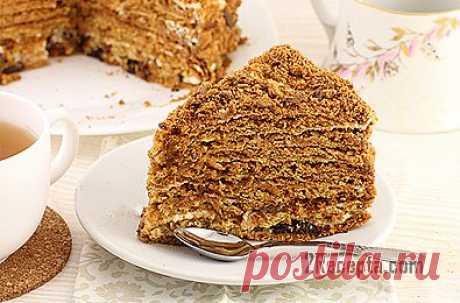 Рецепт: Торт «Медовик» со сметанным кремом - пошаговый фото рецепт приготовления