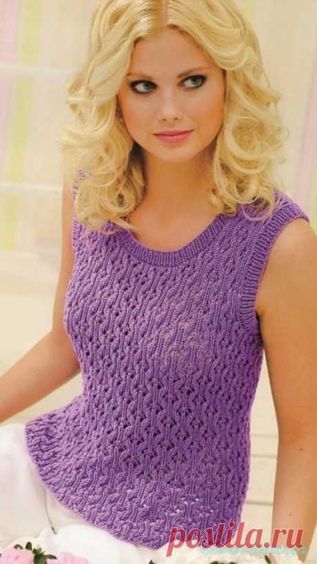 Топ спицами женский — Красивое вязание