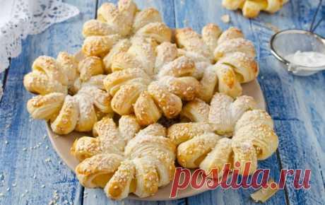 Булочки с ананасом из слоеного теста — Sloosh – кулинарные рецепты