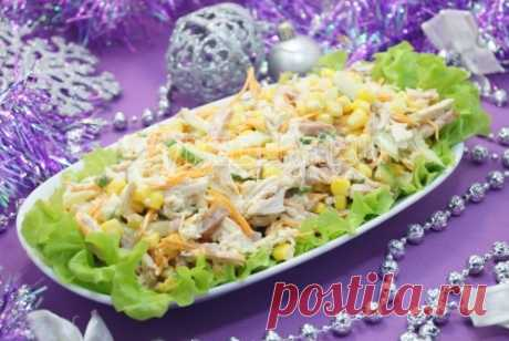 Новогодний салат «Чародей» - новогодние салаты, пошаговые рецепты с фото