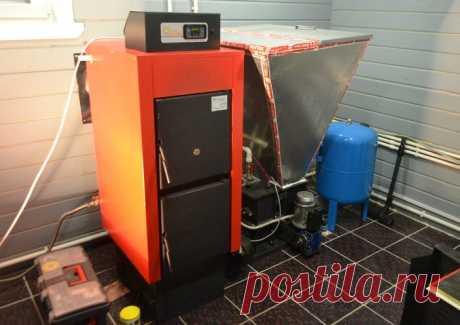 Твердотопливный пеллетный котел отопления для автономной системы