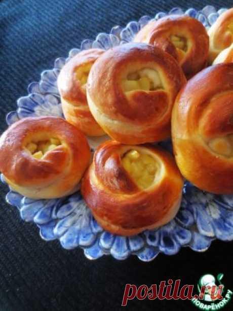 Булочки с яблочной начинкой – кулинарный рецепт
