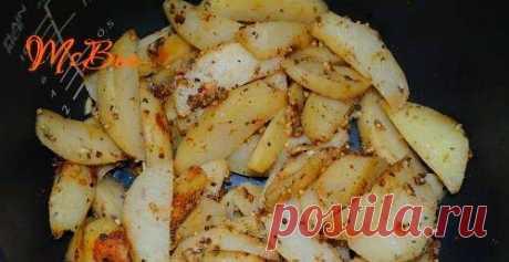 Гарнир из картофеля с горчицей в мультиварке / Простые рецепты