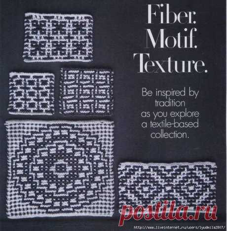 """Lazy Jacquard from \""""Vogue Knitting winter 2014\/15\"""""""