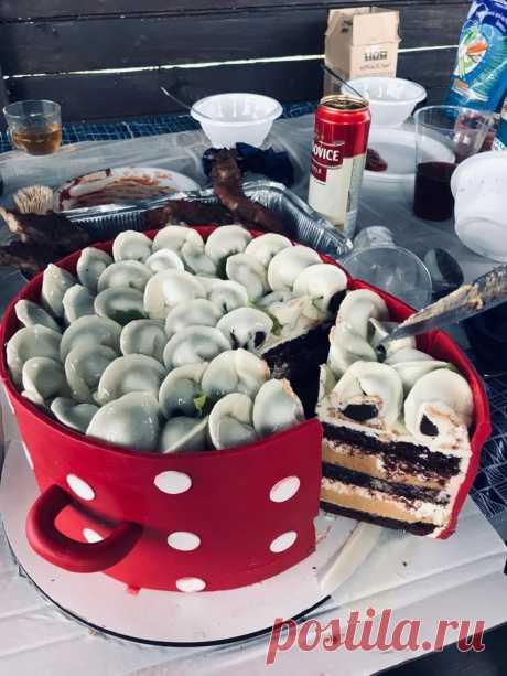 La torta de hombre