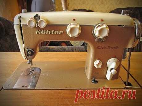 We embroider on the simple sewing machine - YouTube