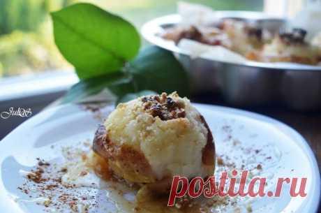 Яблоки запеченные с мёдом и орехами в духовке Автор рецепта Юлия Сухая - Cookpad