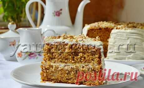 The recipe of cake with smetanny cream - Step-by-step recipes with a photo