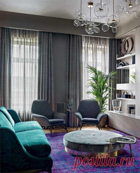 Квартира для деловой женщины, 74 м² | AD Magazine