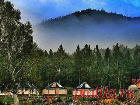 Утро в Катон-Карагай(Казахстан)