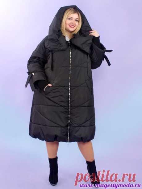 Купить демисезонное женское пальто большого размера