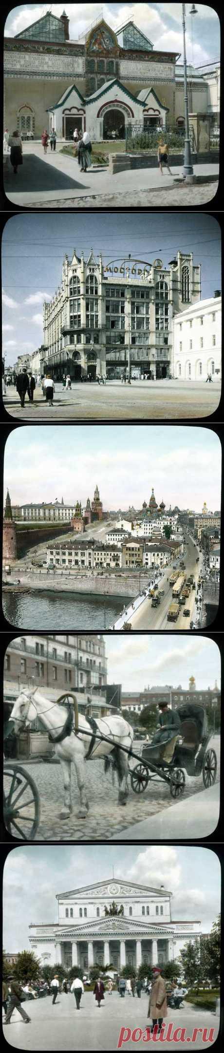 Москва 20-30 х годов прошлого века, запечатленная в цветных фото Брэнсоном Деку (Branson DeCou). | Я так вижу