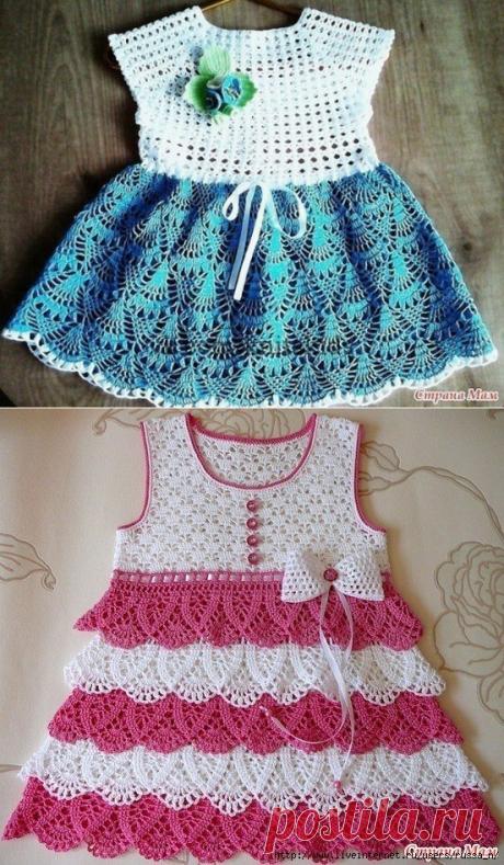 Восхитительные платья крючком для маленьких модниц ! Схемы , описание ! 🥰 | Руки не для скуки .  | Яндекс Дзен