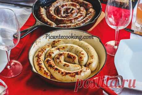 Курячі ковбаски з яблуком   Picantecooking