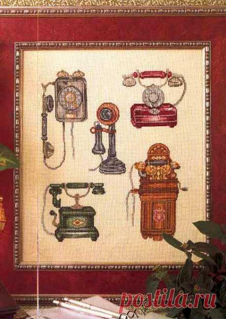 Schemes of an embroidery. Needlework