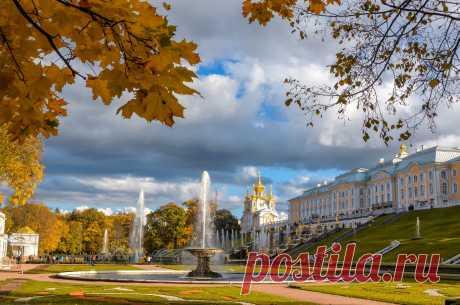 """Осень в Петергофе..../""""На зареве осеннего заката…"""""""