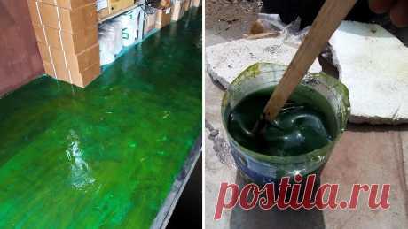 Как сделать дешевую водостойкую и износостойкую краску для бетона, кирпича или дерева Для покраски пористых поверхностей, таких как оштукатуренные, газобетонные, кирпичные стены, бетон или дерево, можно использовать самодельную краску. Она в разы дешевле покупной, при этом обладает очень хорошей износоустойчивостью. Такая краска просто находка, если нужно покрасить, к примеру,