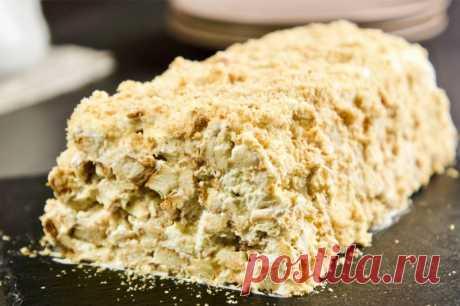Торт из 3 ингредиентов лучше Наполеона! — Кулинарная книга - рецепты с фото