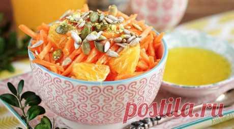 Яркий, вкусный и очень позитивный! Морковный салат с апельсиновым соусом — Фактор Вкуса