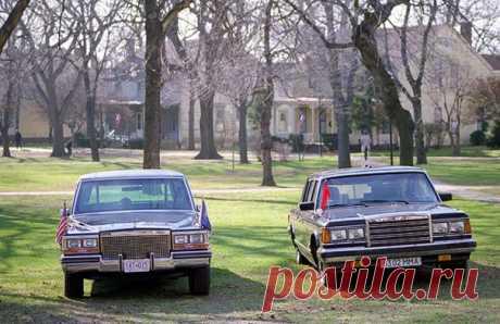 Автомобили из разных миров на одном удивительном фото: встреча руководителей США и СССР в Нью–Йорке, 7 декабря 1988 года